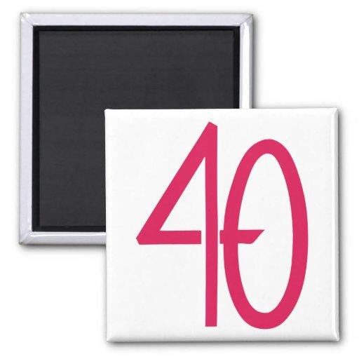 Imán rosado 40