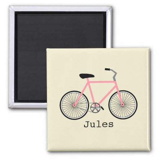 Imán rosado de la bicicleta