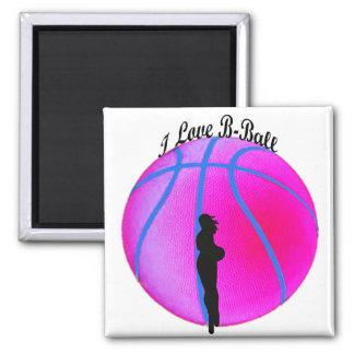 Imán rosado de la diva del B-Ball de SimplyTonjia