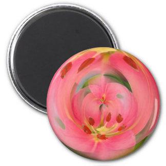 Imán rosado de la esfera del lirio