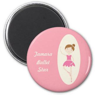 Imán rosado de la estrella del ballet de la bailar