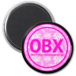 Imán rosado de la flor de OBX Outer Banks NC