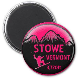 Imán rosado del arte de la snowboard de Stowe Verm