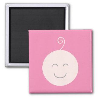Imán rosado del bebé de la sonrisa