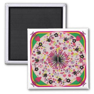Imán rosado del círculo de las mantas de Ikea