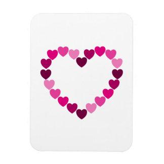 Imán rosado del corazón de los corazones