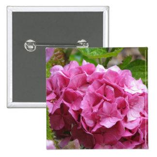 Imán rosado del cuadrado del Hydrangea Pins