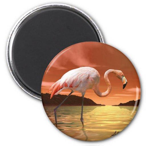 Imán rosado del flamenco de la Florida