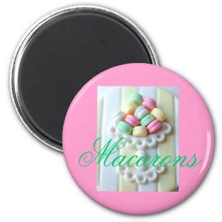 Imán rosado del refrigerador de Macarons