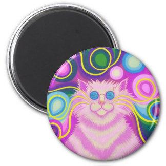 imán rosado del refrigerador del Psy-gato-delic re