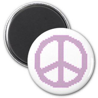 Imán rosado del signo de la paz