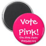 Imán rosado del voto