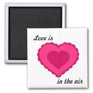 Imán rosado enrrollado del corazón del amor