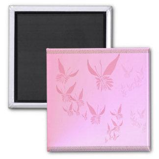 Imán rosado suave de la mariposa