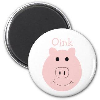 Imán rosado tonto del cerdo