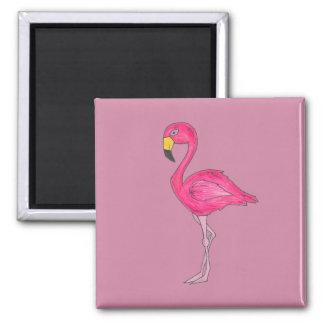 Imán rosado tropical del pájaro del flamenco