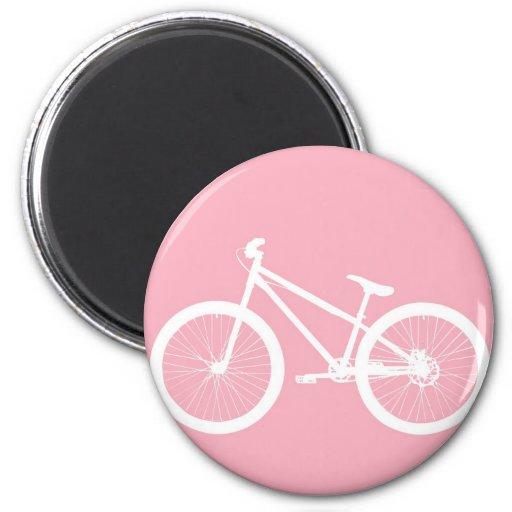 Imán rosado y blanco de la bicicleta del vintage