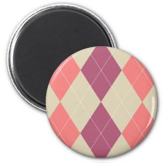 Imán rosado y de marfil de Argyle