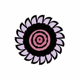 Imán rosado y púrpura lindo de la flor imán fotoescultura