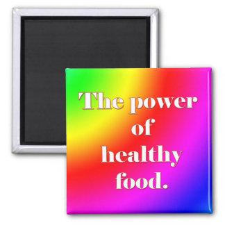 Imán sano del refrigerador de la comida