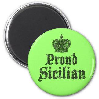Imán siciliano orgulloso del refrigerador