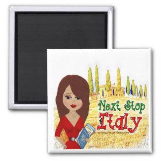 Imán siguiente del logotipo de Italia de la parada
