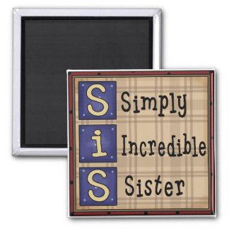 Imán simplemente increíble de SIS de la hermana