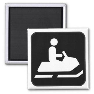 Imán Snowmobiling del símbolo