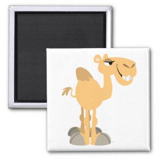 Imán sonriente del camello del dibujo animado