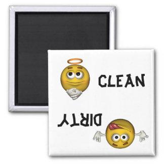 Imán sonriente del lavaplatos de la cara
