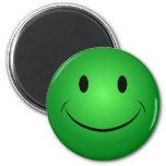 Imán sonriente verde de la cara