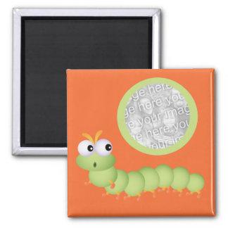 Imán Squiggly lindo de la foto del gusano