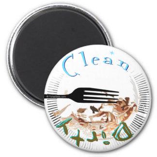 Imán sucio del lavaplatos de la placa