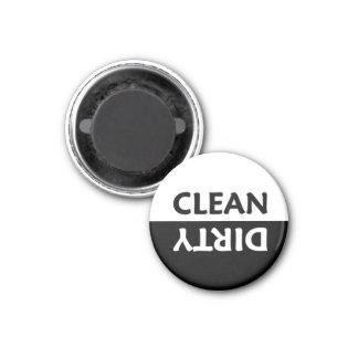 Imán sucio limpio blanco y negro