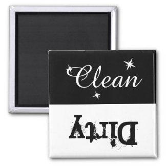 Imán sucio limpio blanco y negro para el