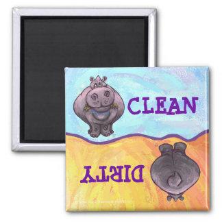 Imán sucio/limpio del Hippopotamus del lavaplatos