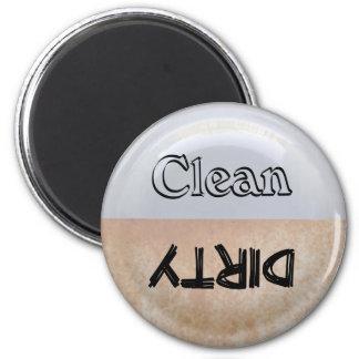 Imán sucio/limpio del lavaplatos