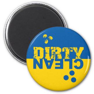Imán sucio/limpio del lavaplatos azul y amarillo
