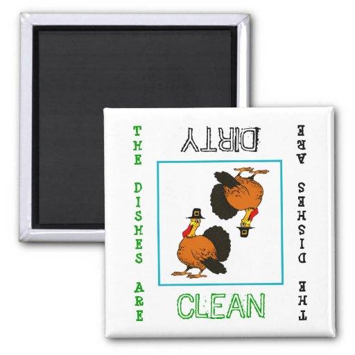 Imán sucio limpio del lavaplatos de la acción de g