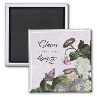 Imán sucio limpio del lavaplatos de la correhuela