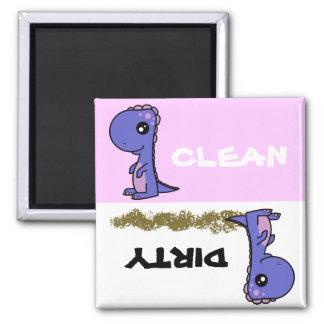 Imán sucio limpio del lavaplatos del dinosaurio li