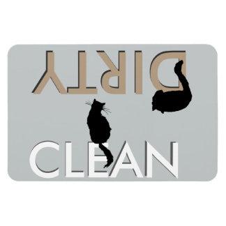 Imán Sucio-Limpio del lavaplatos del gato - LG
