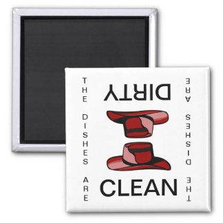 Imán sucio limpio del lavaplatos del gorra de la v