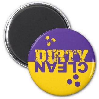Imán sucio/limpio del lavaplatos púrpura y amarill