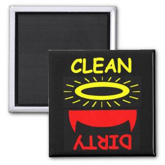 Imán sucio limpio divertido lindo del lavaplatos