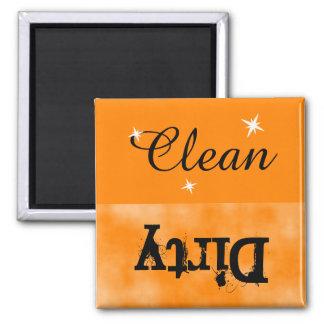 Imán sucio limpio negro anaranjado para el
