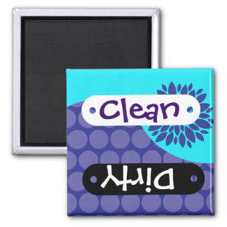 Imán sucio limpio púrpura del lavaplatos de la flo