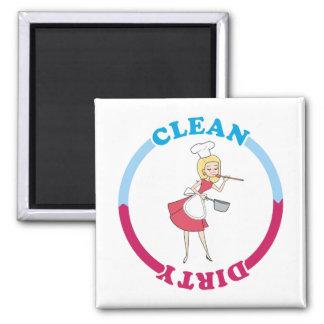 Imán sucio limpio rubio para el lavaplatos