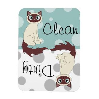 Imán sucio limpio siamés lindo del lavaplatos de R