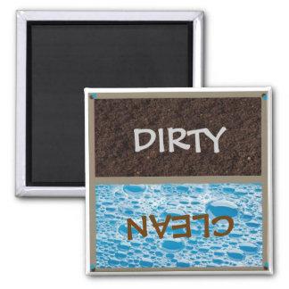 Imán sucio o limpio del lavaplatos
